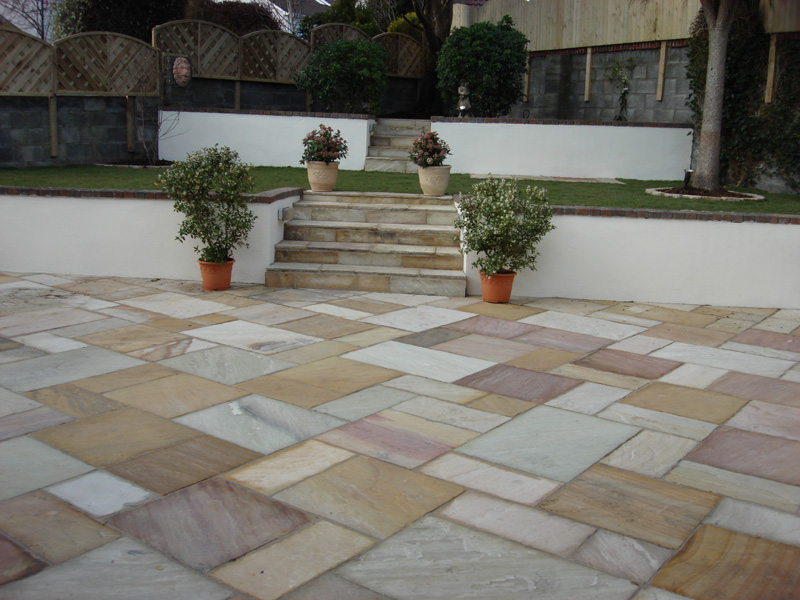 Perfect The Gallopes, Sandstone Patio, Back Garden